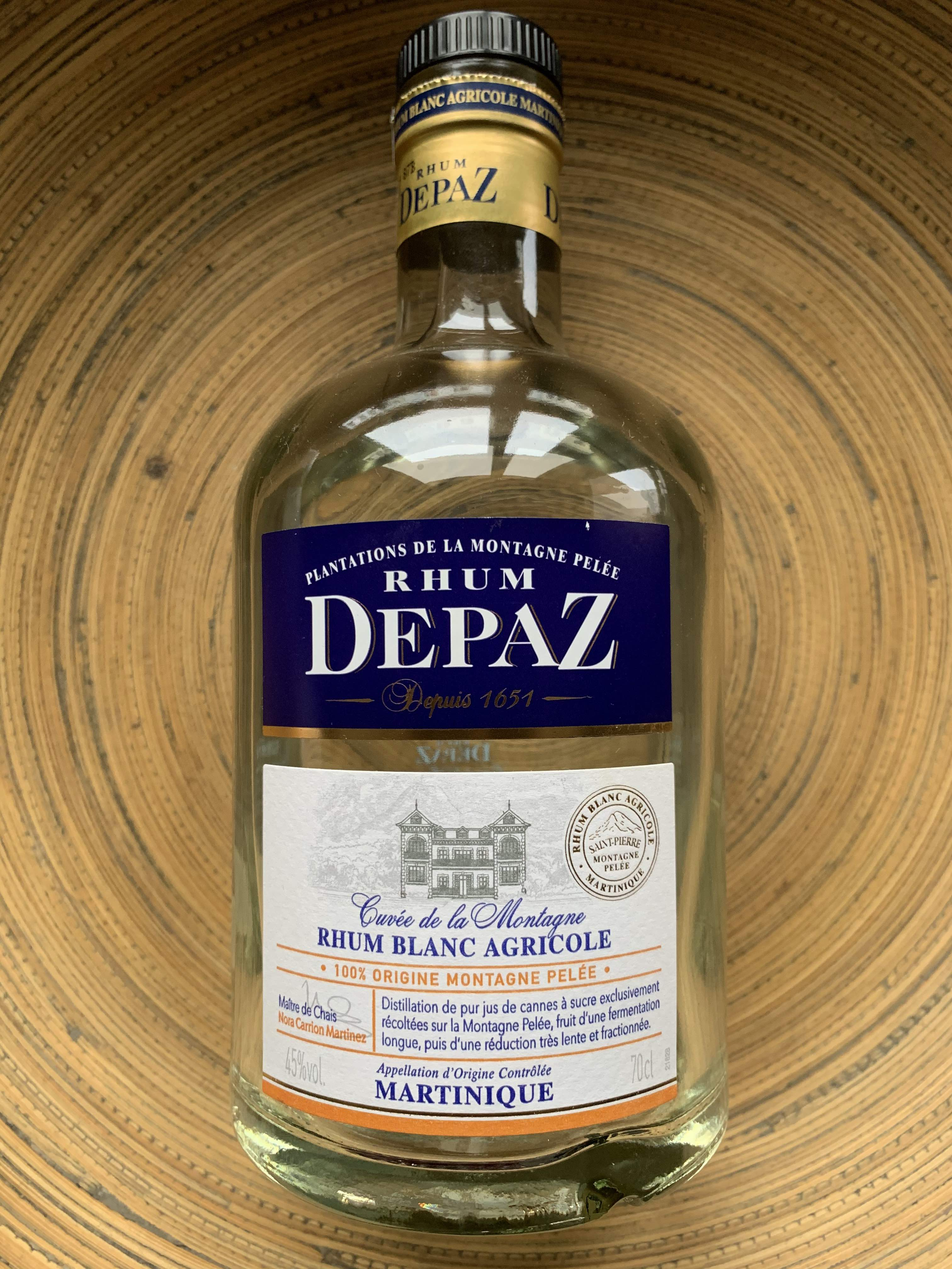 Rhum Depaz. Rhum blanc ideal pour le ti-punch